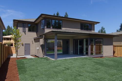 Rumah tingkat minimalis bernuansa modern dan alami