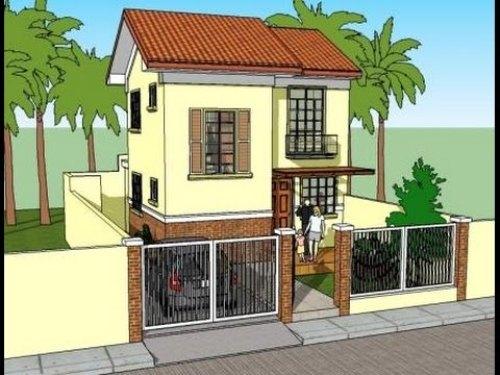 Sketsa Rumah minimalis 2 lantai type 36