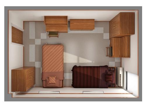 3 Sketsa Kamar Rumah Minimalis Untuk Dua Anak