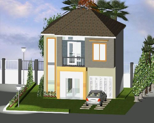 Sketsa rumah minimalis sederhana 2 lantai
