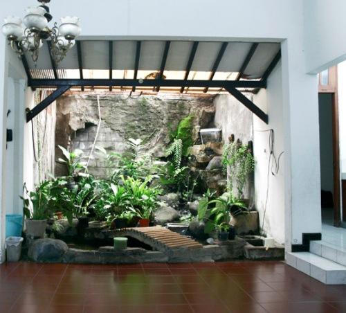 Taman basah minimalis indoor