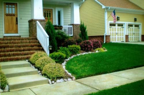 Taman depan untuk rumah minimalis tropis 1 lantai