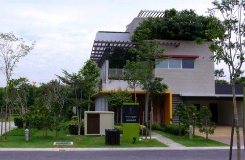 Taman yang hijau mempercantik eksterior rumah