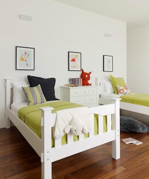 Warna pastel pada kamar tidur bertema netral - Houzz