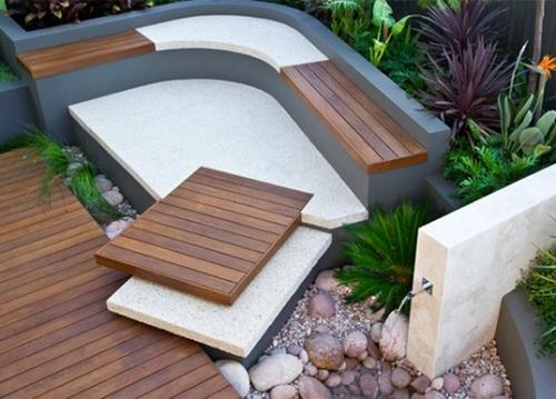 contoh model teras rumah minimalis dengan tambahan material kayu