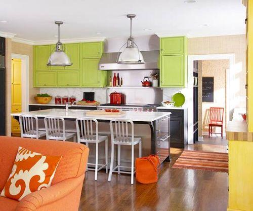 dapur minimalis bernuansa sitrus dengan kombinasi warna
