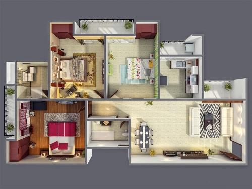 Hunian Representatif dengan Denah Rumah Tipe 70 1 Lantai
