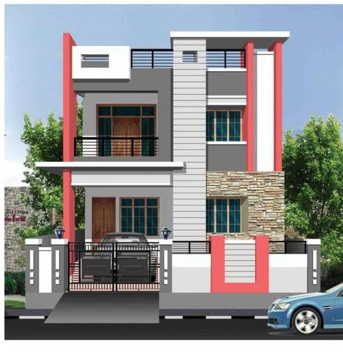 desain atap rumah 2 lantai model datar