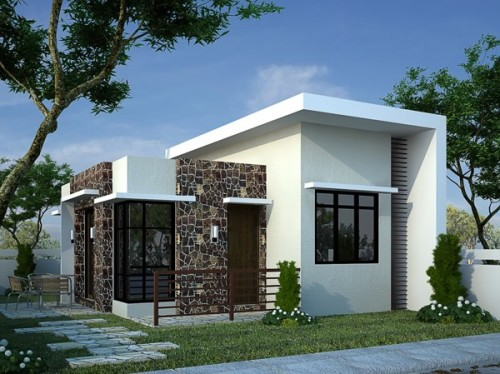 desain atap rumah minimalis 1 lantai Model Datar