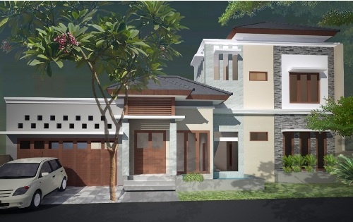 Rumah Minimalis Modern 1 Lantai dengan Teras dan Kolam