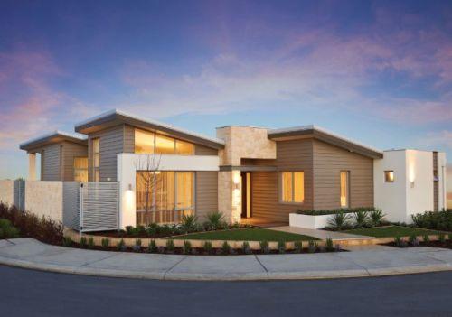 desain rumah mewah minimalis 1 lantai