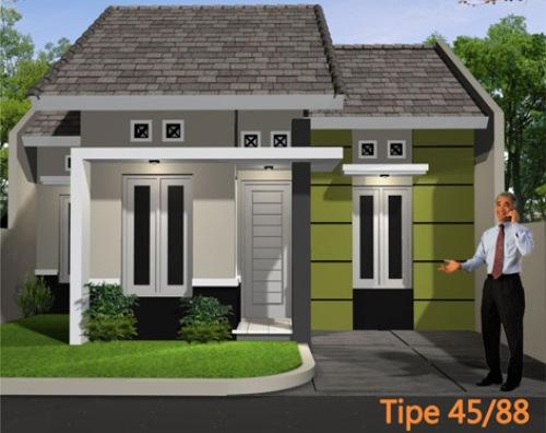 desain rumah tipe 45 minimalis 1 lantai