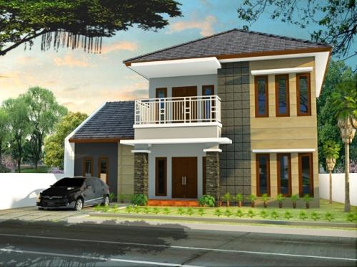 gambar rumah minimalis modern 2 lantai mewah