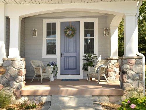 model teras rumah minimalis modern dan kontemporer dengan batu alam